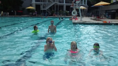 Swimming with cousins